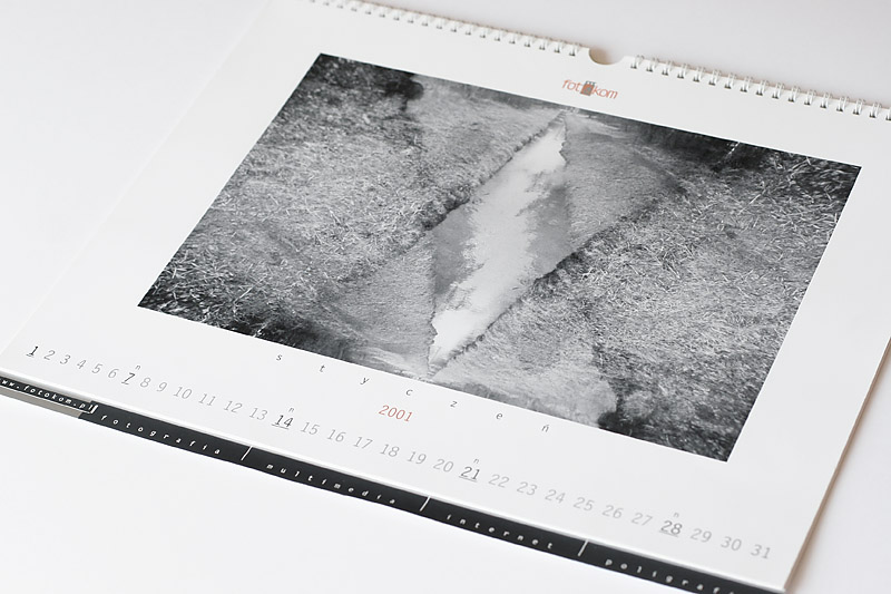 Limited edition calendar with black white photography