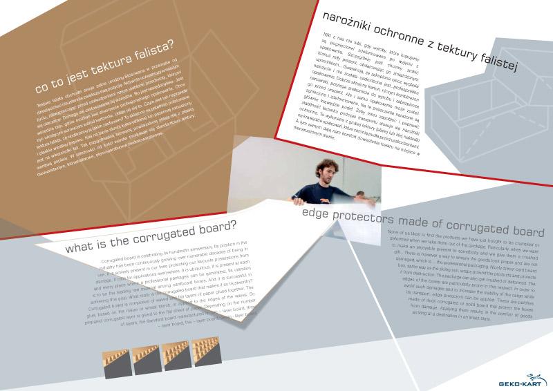 projekt folderów reklamowych